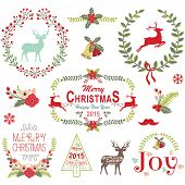 image of christmas wreath  - Christmas Wreath Frame Collection - JPG