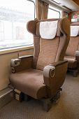foto of first class  - luxury first class seat on the train - JPG