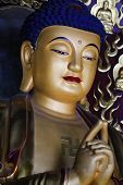 image of gautama buddha  - A Praying golden Gautama buddha statue - JPG