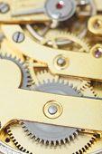 ������, ������: Background From Brass Clockwork Of Retro Clock