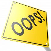 picture of oops  - Road sign with oops image with hi - JPG