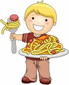 Boy With Spaghetti poster