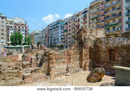 Thessaloniki. Archaeological Excavations Of Palace Of Roman Emperor Galerius