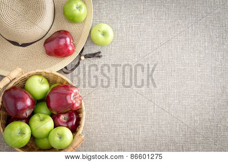 Farm Fresh Red And Green Apples