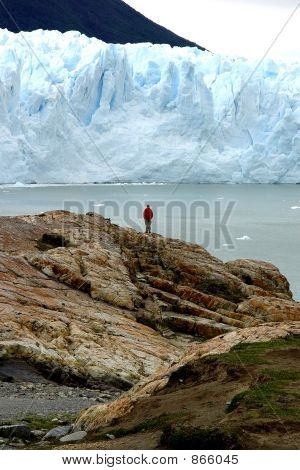 Man and Glacier
