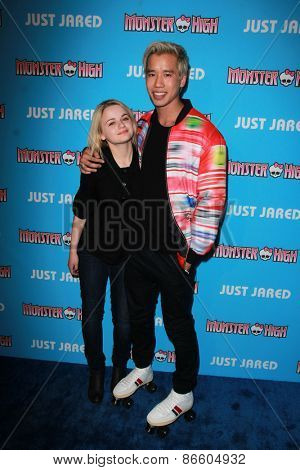 LOS ANGELES - MAR 26:  Joey King, Jared Eng at the Just Jared's Throwback Thursday Party at the Moonlight Rollerway on March 26, 2015 in Glendale, CA