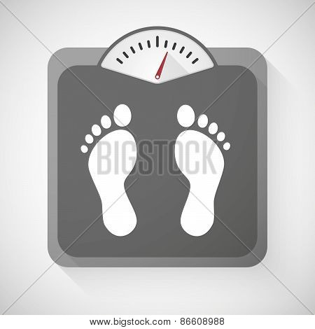 Weight Scale With Foot Prints