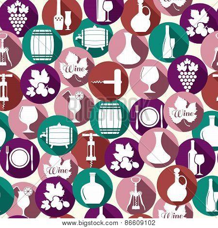 Seamless pattern of wine
