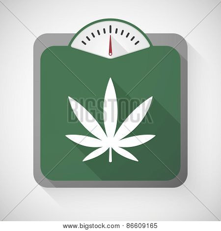 Weight Scale With A Marijuana Leaf