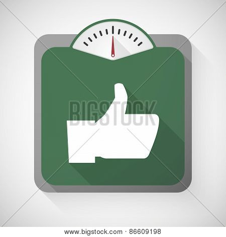 Weight Scale With A Thumb Hand