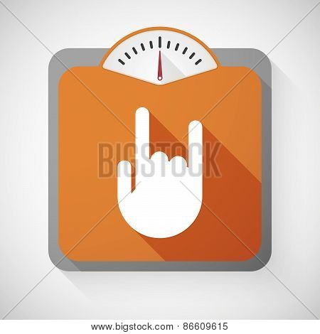 Weight Scale With A Rock Hand