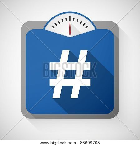 Weight Scale With A Hash Tag