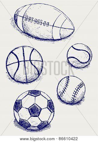 Set sport balls