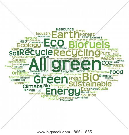 Vector concept or conceptual abstract green ecology and conservation