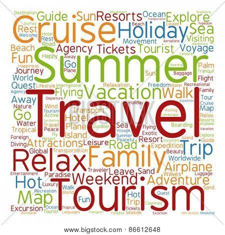 Vector concept or conceptual abstract summer travel or tourism
