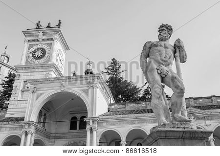 Statue Of Caco,black And White