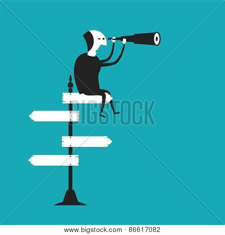 Business Outlook Vector Concept In Flat Cartoon Style