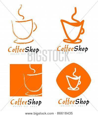 Coffee Cup Or Shop Logo