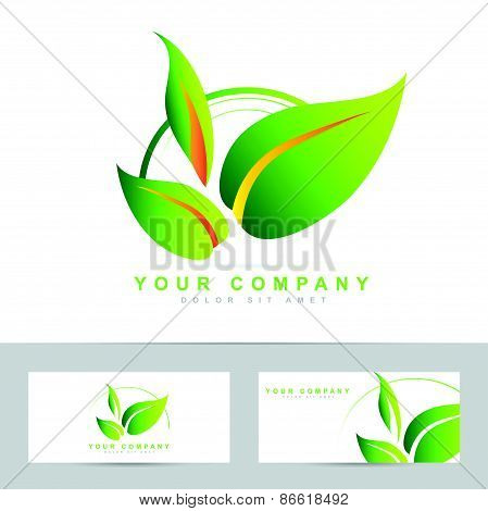 Ecology Or Bio Leafs Vector Logo