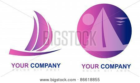 Sailboat Vector Logo Design