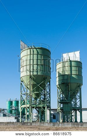 Two Silos For Lime