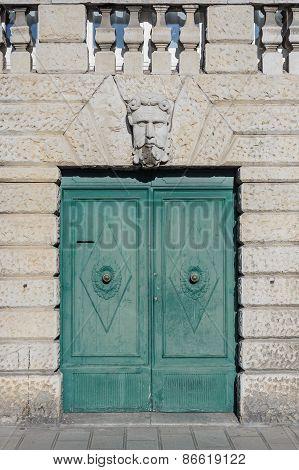 Old Doorway With Stone Head
