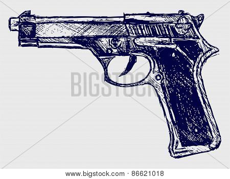 Handgun close-up