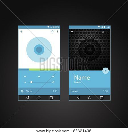 Modern smartphone player interface template