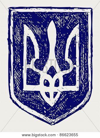 Trident. Emblem of Ukraine