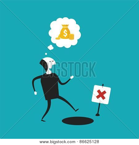 Vector Concept Of Financial Trap In Flat Cartoon Style