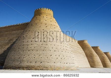 Wall of the Bukhara Fortress, Uzbekistan