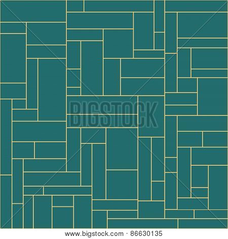 Symmetrical geometric blocks square and rectangle vector backdrop.