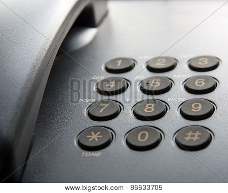 Black Landline Phone.