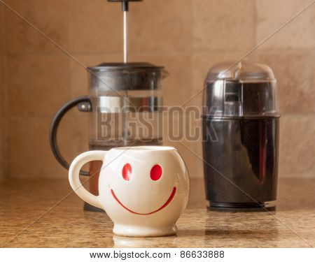 Morning Happy Cup Of Coffee