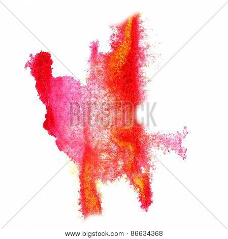 Abstract watercolor pink,red background for your design insult