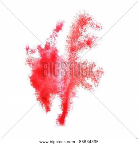 Abstract watercolor red  background for your design insult