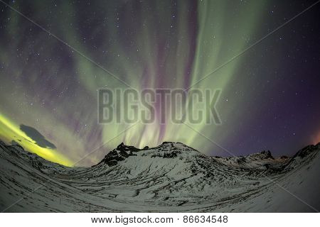 The Northern Light Aurora borealis at Vik Iceland