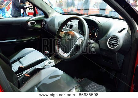 Bangkok - March 26 : Interior Design Of Passenger Room Of Mg 3 Hatchback Car On Display At 36Th Bang