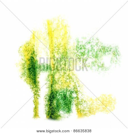 Abstract yellow,light green  watercolor background for your desi