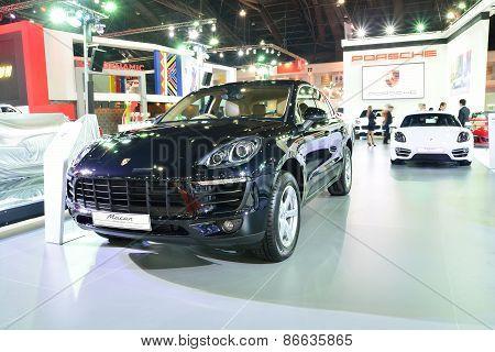 Bangkok - March 26 : New Porsche Macan, Cross Over Car, On Display At 36Th Bangkok International Mot