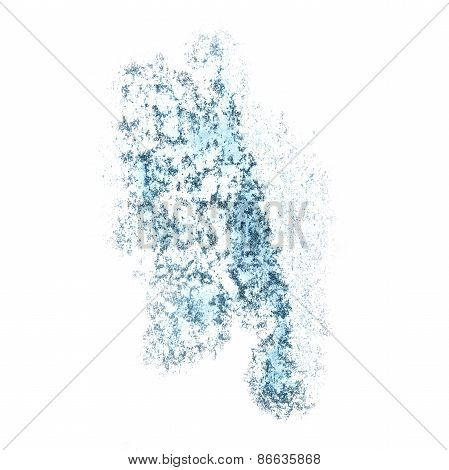 Abstract blue, gray watercolor background for your design insult