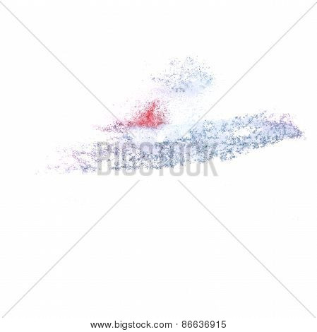 Abstract gray watercolor  background for your design insult