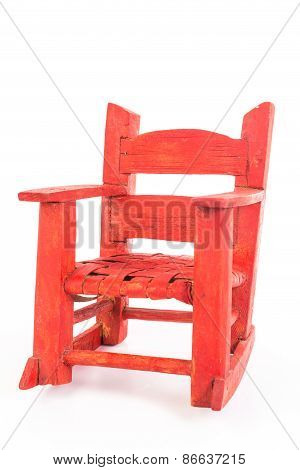 Miniature Folk Art Rocking Chair