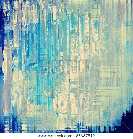 Designed grunge texture or retro background. With different color patterns: gray; cyan; blue