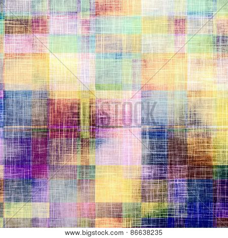 Vintage antique textured background. With different color patterns: yellow (beige); green; purple (violet); blue