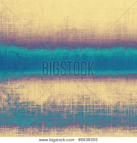 Grunge texture, may be used as retro-style background. With different color patterns: yellow (beige); purple (violet); blue