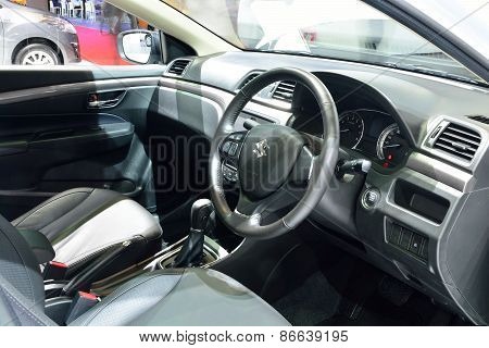 Bangkok - March 26 : Passender Room Design Of Suzuki Ciaz Sedan Compact Car On Display At 36Th Bangk