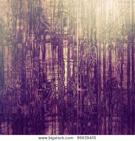 Old grunge template. With different color patterns: yellow (beige); gray; purple (violet)
