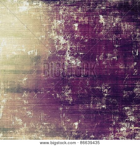 Aged grunge texture. With different color patterns: yellow (beige); gray; purple (violet)