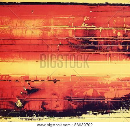 Computer designed highly detailed vintage texture or background. With different color patterns: yellow (beige); red (orange); black